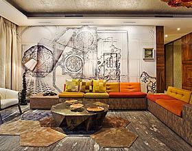 14个国外客厅墙纸使用技巧案例