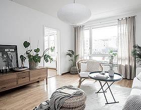 看起来很棒的斯堪的纳维亚风格装饰的客厅设计