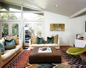 20个用客厅地毯的创意来改善你的室内装饰案例