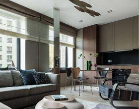 莫斯科70平米的Ivan Kachalov公寓室内设计