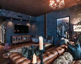 蒸汽朋克的调色板和颜色在房间装饰中使用