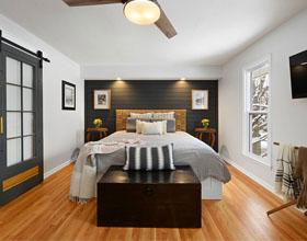 10个如何布置在一间小卧室安放大床的案例