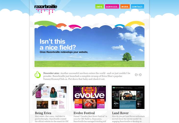 Ris中国设计在线-30个颜色鲜艳的网站设计