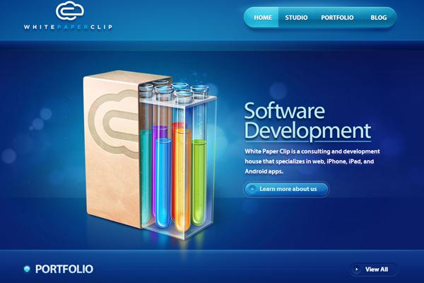 EwU中国设计在线-25个令人惊叹的蓝色网站设计
