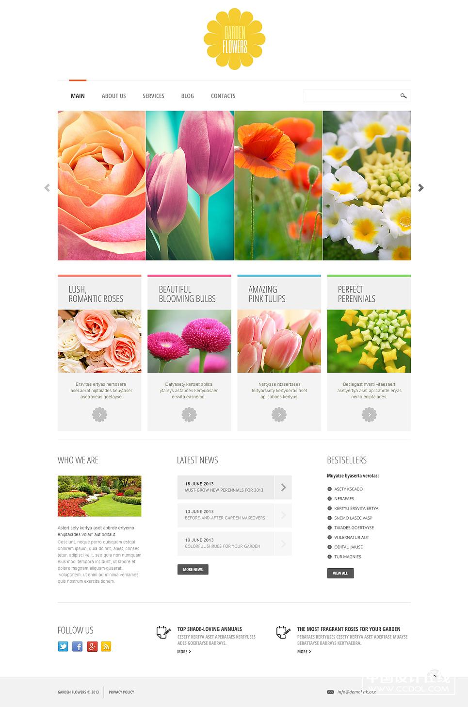 20个顶级时尚流行<a href=http://www.ccdol.com/sheji/wangyesheji/ target=_blank class=infotextkey>网页设计</a>模板