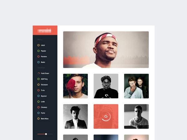 中国设计在线网站_50个创意音乐网站UI设计(4)-中国设计在线