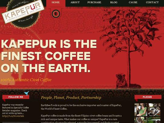 中国设计在线网站_30个咖啡网站设计灵感-中国设计在线