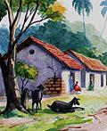 20幅漂亮的乡村风情水彩画