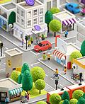 超可爱的卡通三维城市