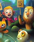 儿童图书项目插图—无牙怪物