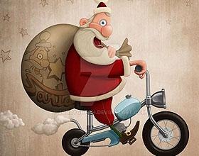 25幅有趣的圣诞老人数码艺术设计作品