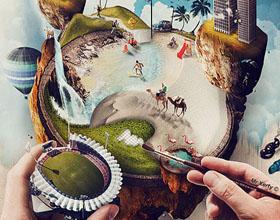 50幅超级创意的数码合成艺术设计作品欣赏