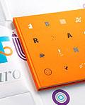庆祝未来巴西brand's10th年书籍设计