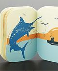 老人和海经典小说口袋书籍设计